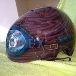 Helmets Airbrushed and Custom Painted