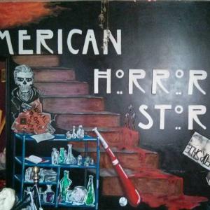 American horror wall.
