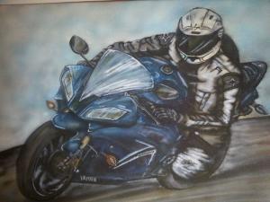 sports bike canvas