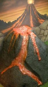 volcano sculpture