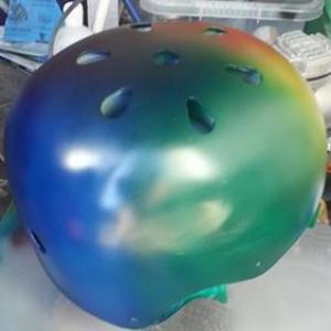 rainbow roller derby helmet