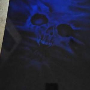 candy blue hidden skull
