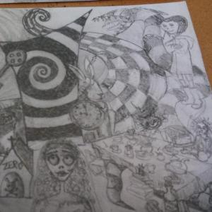 design created for Tim burton inspired airbrush artwork