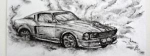 mustang car art