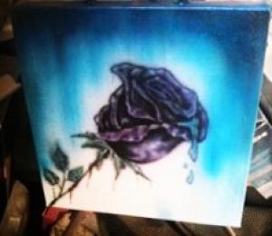 airbrush mini rose