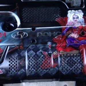 harley quinn engine cover