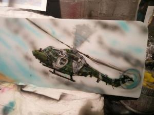 helicopter blade wip